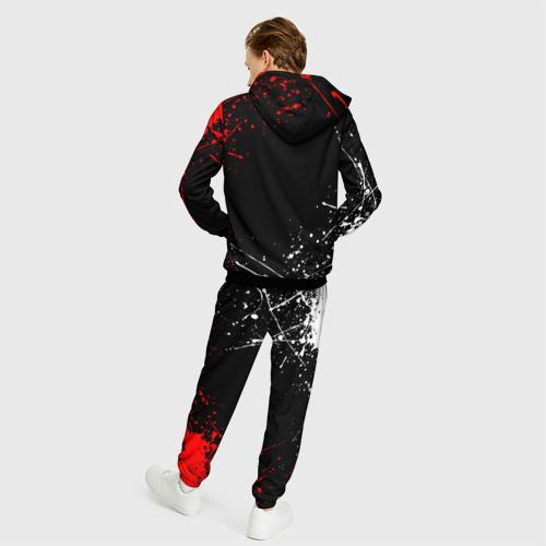 Мужской 3D костюм с принтом CYBERPUNK 2077 SAMURAI   САМУРАЙ, вид сзади #2