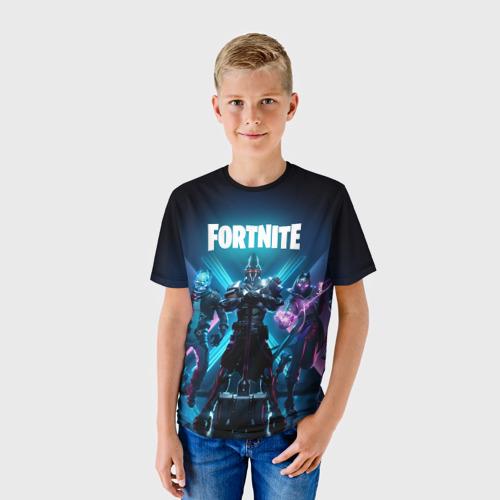 Детская 3D футболка с принтом FORTNITE 10 СЕЗОН, фото на моделе #1