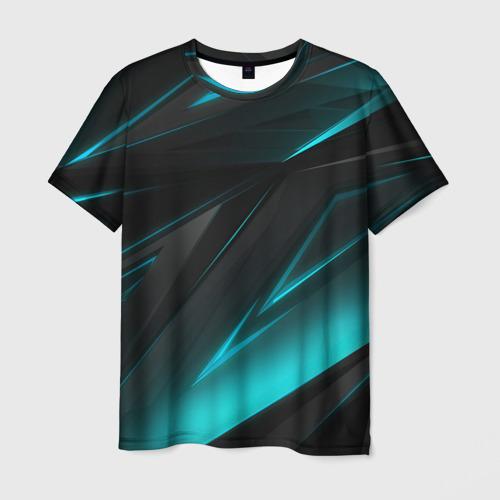 Мужская 3D футболка GEOMETRY STRIPES NEON   НЕОНОВАЯ ГЕОМЕТРИЯ
