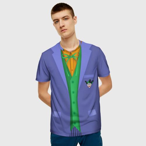 Мужская 3D футболка с принтом Joker, фото на моделе #1