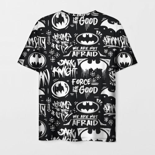 Мужская 3D футболка с принтом Batman, вид сзади #1