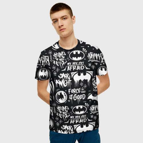 Мужская 3D футболка с принтом Batman, фото на моделе #1