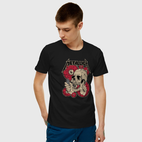 Мужская футболка с принтом Metallica, фото на моделе #1