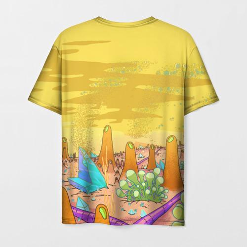 Мужская 3D футболка с принтом Рик Санчес, вид сзади #1