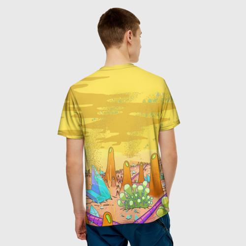 Мужская 3D футболка с принтом Рик Санчес, вид сзади #2