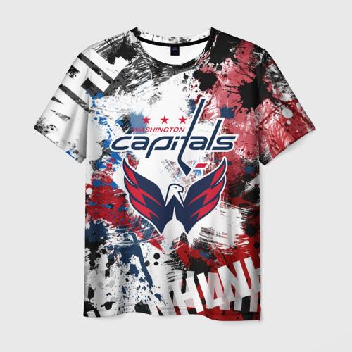 Мужская 3D футболка Вашингтон Кэпиталз