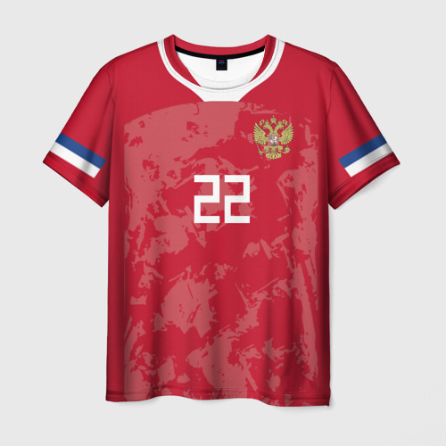 Мужская 3D футболка Dzyuba home EURO 2020
