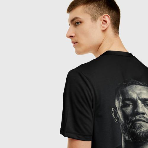 Мужская 3D футболка с принтом Конор Макгрегор, вид сзади #2