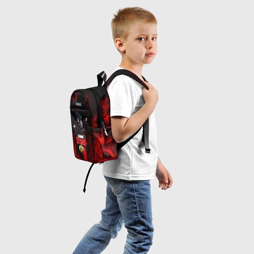 Детский рюкзак 3D с принтом BRAWL STARS CROW | БРАВЛ СТАРС, вид сзади #1