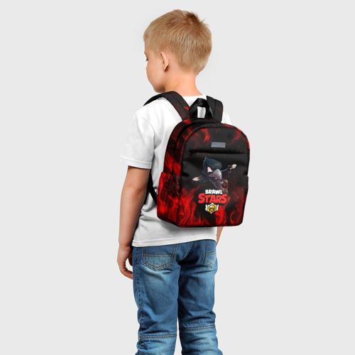 Детский рюкзак 3D с принтом BRAWL STARS CROW | БРАВЛ СТАРС, фото на моделе #1