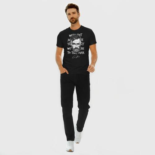 Мужская футболка премиум с принтом Конор Макгрегор, вид сбоку #3