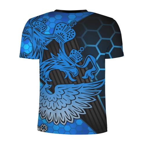 Мужская футболка 3D спортивная с принтом Хоккей, вид сзади #1