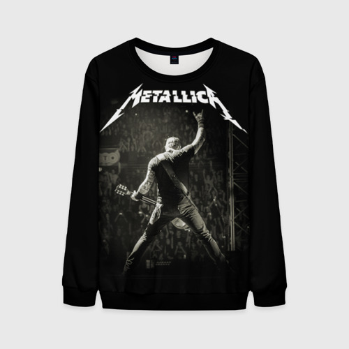Мужской 3D свитшот с принтом Metallica, вид спереди #2
