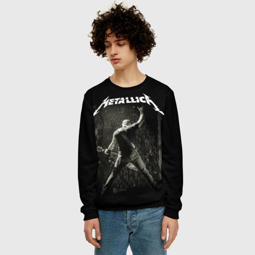 Мужской 3D свитшот с принтом Metallica, фото на моделе #1