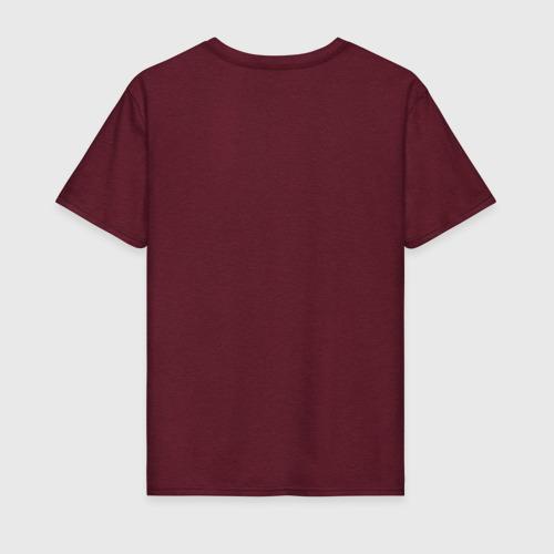Мужская футболка с принтом WUBBALUBBADUBDUB, вид сзади #1