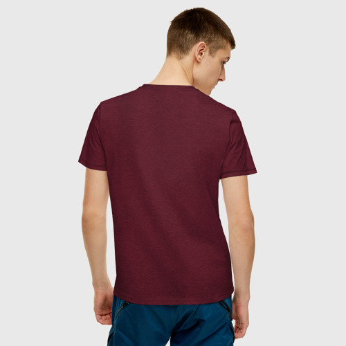 Мужская футболка с принтом WUBBALUBBADUBDUB, вид сзади #2