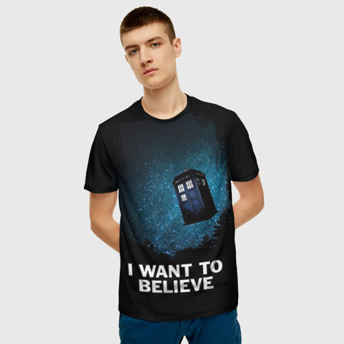 Мужская 3D футболка с принтом Doctor Who, фото на моделе #1