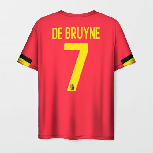 Мужская 3D футболка с принтом De Bruyne home EURO 2020, вид сзади #1