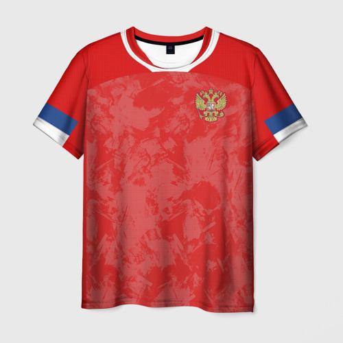 Мужская 3D футболка Russia home EURO 2020