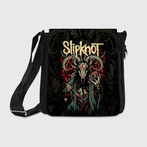 Сумка через плечо с принтом Slipknot, вид спереди #2