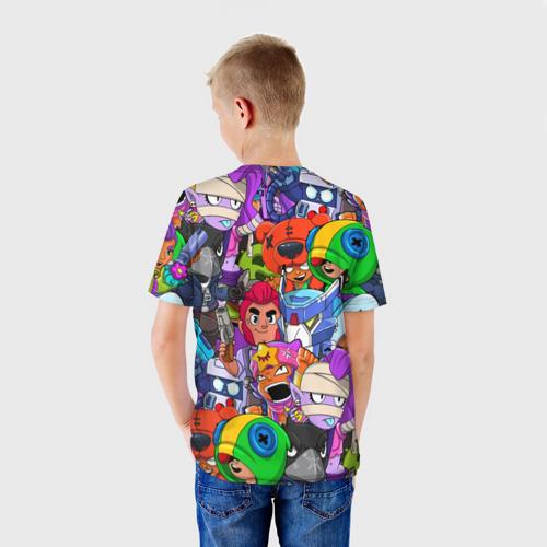 Детская 3D футболка с принтом BRAWL STARS, вид сзади #2