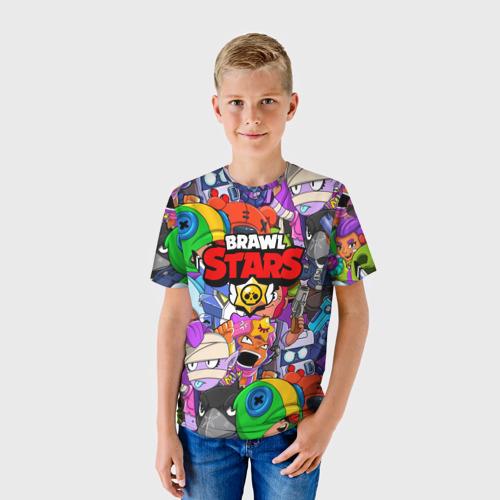 Детская 3D футболка с принтом BRAWL STARS, фото на моделе #1