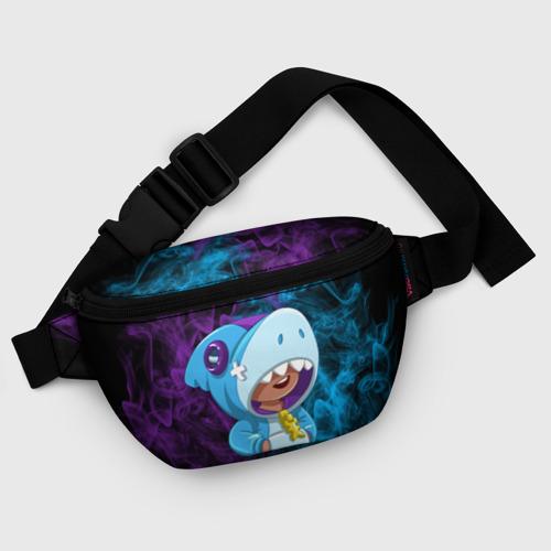 Поясная сумка 3D с принтом Леон скин Акулы, фото #5