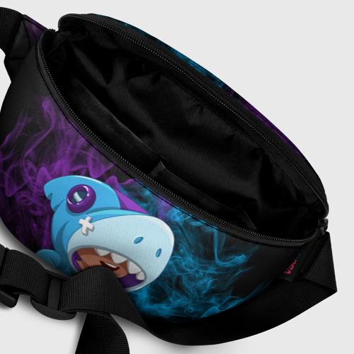 Поясная сумка 3D с принтом Леон скин Акулы, фото #6