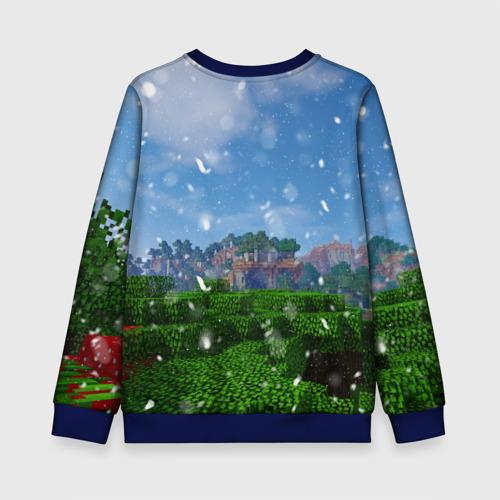 Детский 3D свитшот с принтом Minecraft / Майнкрафт, вид сзади #1