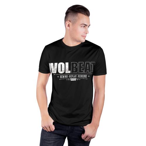 Мужская футболка 3D спортивная с принтом Volbeat, фото на моделе #1