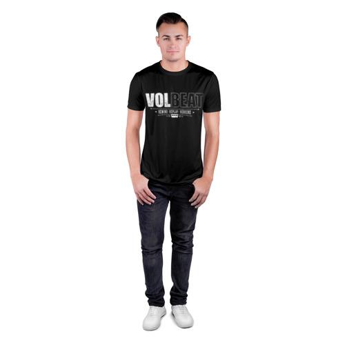 Мужская футболка 3D спортивная с принтом Volbeat, вид сбоку #3