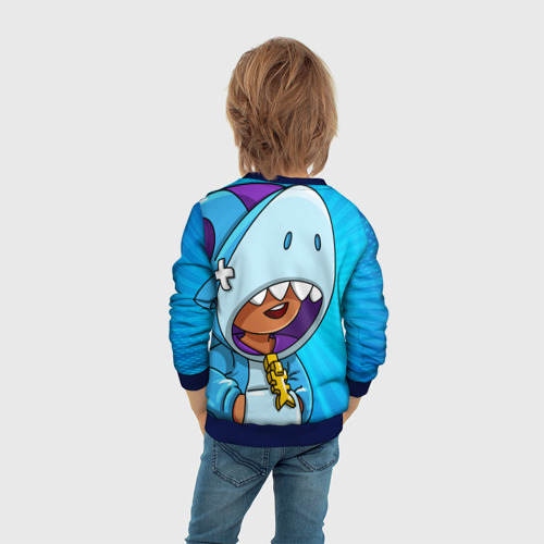 Детский 3D свитшот с принтом BRAWL STARS LEON, вид сзади #2