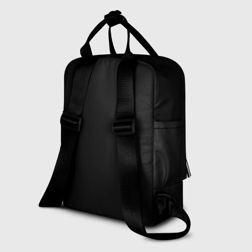 Женский рюкзак 3D с принтом Bored sherlock, вид сзади #1