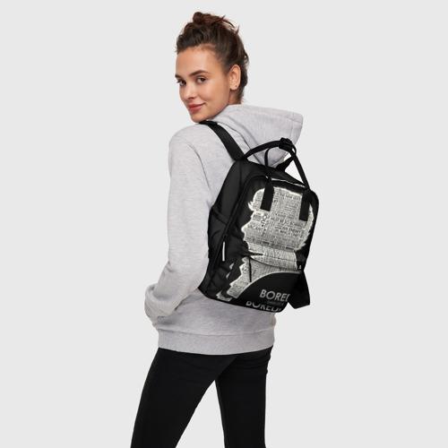Женский рюкзак 3D с принтом Bored sherlock, вид сбоку #3