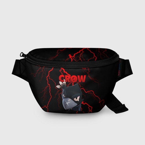 Поясная сумка 3D с принтом Brawl Stars CROW, вид спереди #2