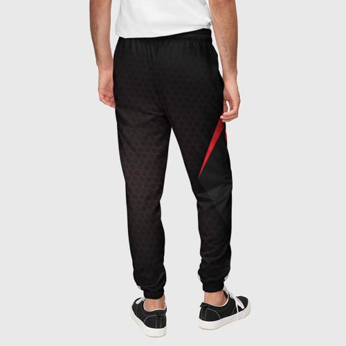 Мужские брюки 3D с принтом Mass Effect N7, вид сзади #2