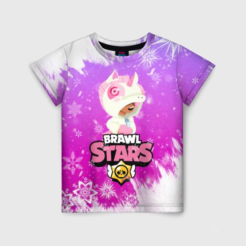 Детская 3D футболка Brawl Stars Leon Unicorn