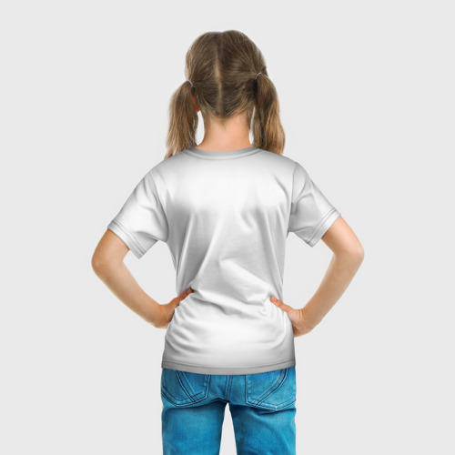 Детская 3D футболка с принтом UNDERTALE, вид сзади #2