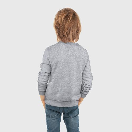 Детский свитшот хлопок с принтом Лев Яшин, вид сзади #2