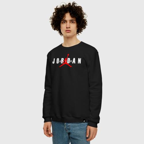 Мужской свитшот с принтом MICHAEL JORDAN, фото на моделе #1