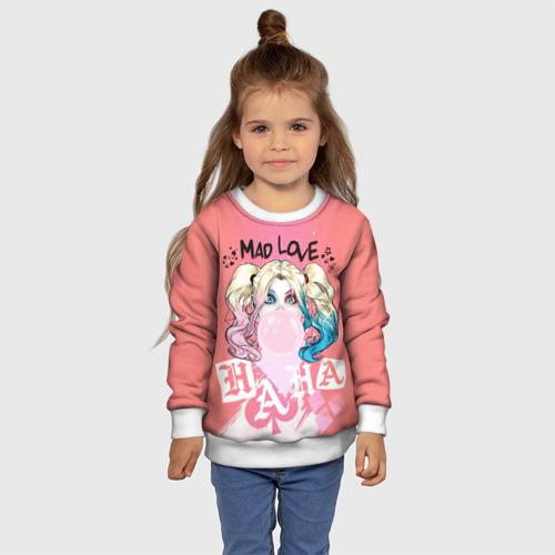 Детский 3D свитшот с принтом Harley Quinn (Mad love), фото #4