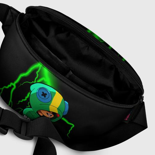 Поясная сумка 3D с принтом Brawl Stars LEON, фото #6