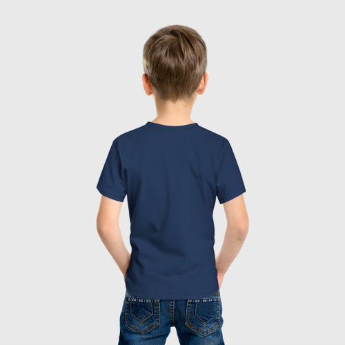 Детская футболка с принтом BRAWL STARS LEON, вид сзади #2