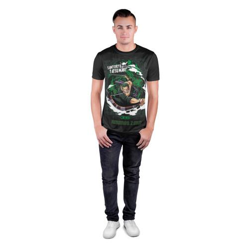 Мужская футболка 3D спортивная с принтом Santoryu Tatsumaki, вид сбоку #3