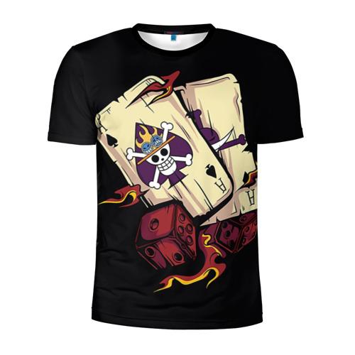 Мужская футболка 3D спортивная с принтом Большой куш карты, вид спереди #2