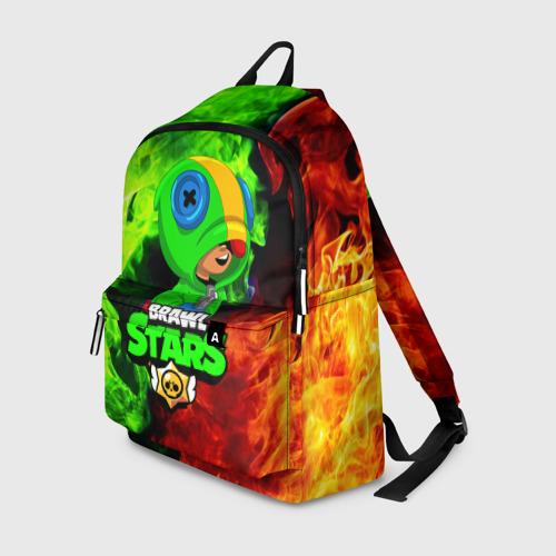 Рюкзак 3D с принтом BRAWL STARS LEON   ЛЕОН, вид спереди #2