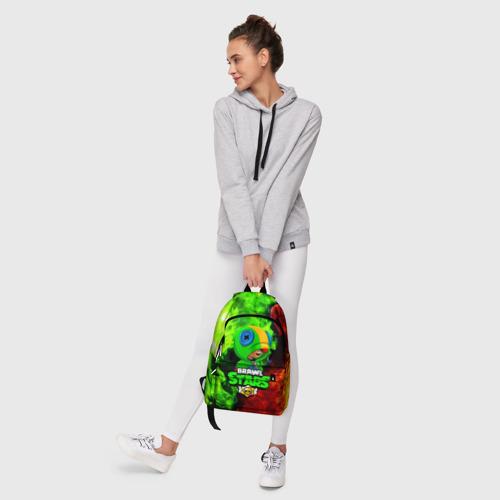 Рюкзак 3D с принтом BRAWL STARS LEON   ЛЕОН, фото #6