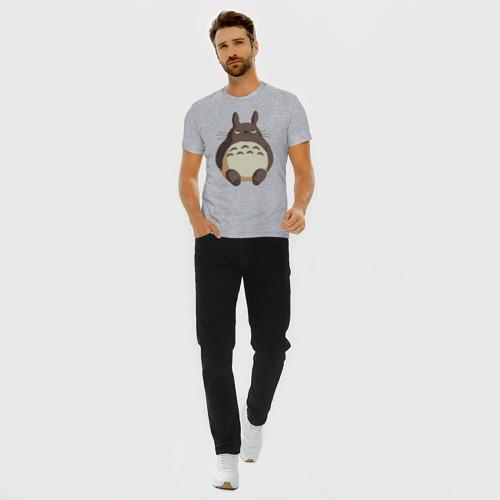 Мужская футболка премиум с принтом Грустный Тоторо, вид сбоку #3