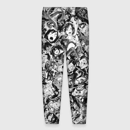 Мужские брюки 3D с принтом Ахегао с щупальцами, вид сзади #1