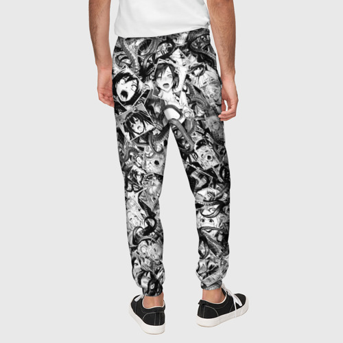 Мужские брюки 3D с принтом Ахегао с щупальцами, вид сзади #2